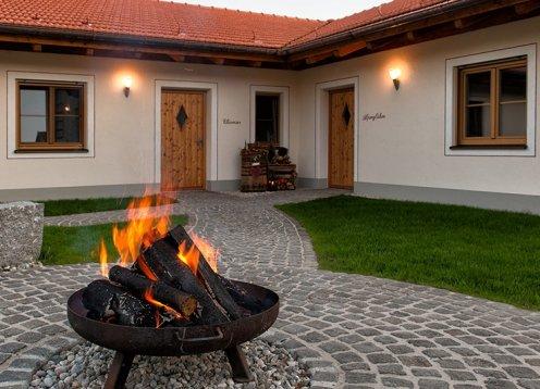 Ferienhäuser am Chiemsee auf dem Marksteinhof in Fembach bei Seebruck